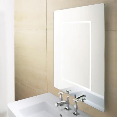 Espejo rectangular retroiluminado
