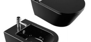 Premium 55 Wc suspendido con fijación oculta. Acompañado de tapa también en la versión de caida amortiguada Descarga 4,5 lt. Disponible en la versión de color negro.